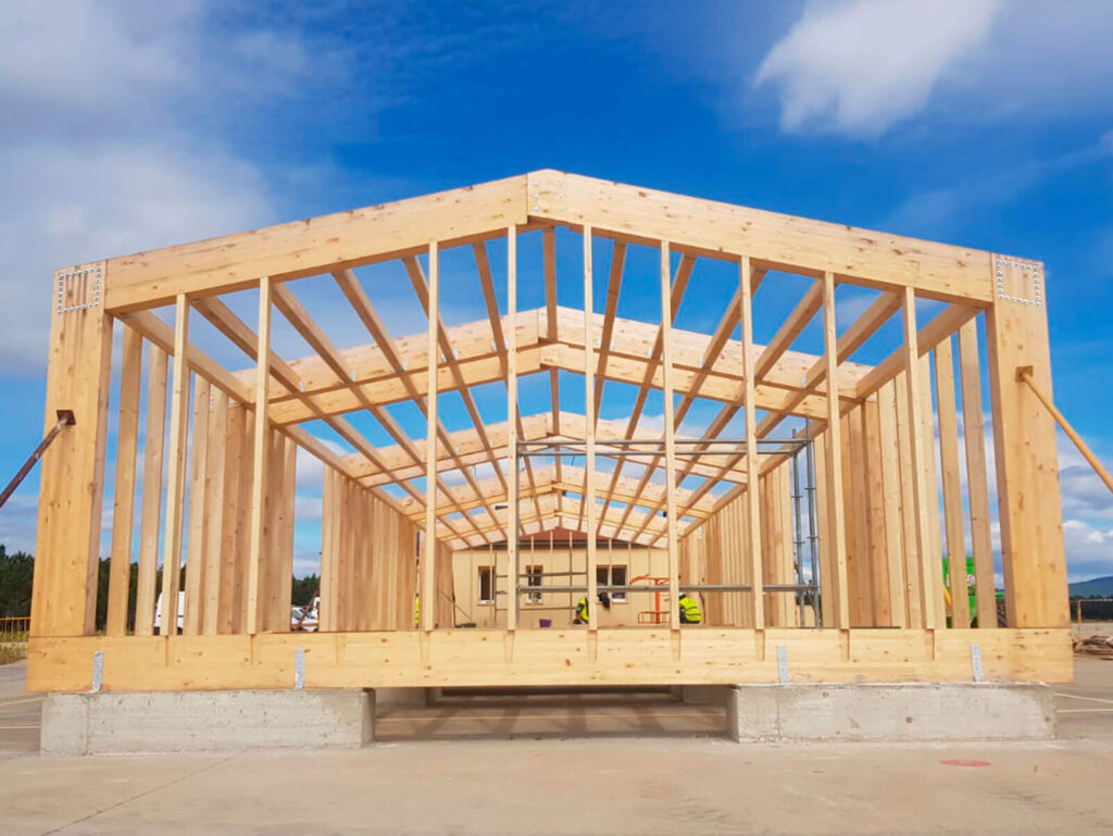 Uso estructural de la madera de pino Soria